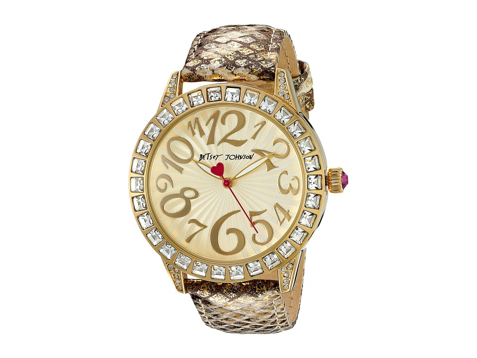 Betsey Johnson - BJ00292-05 (Gold/Snakeskin) Watches