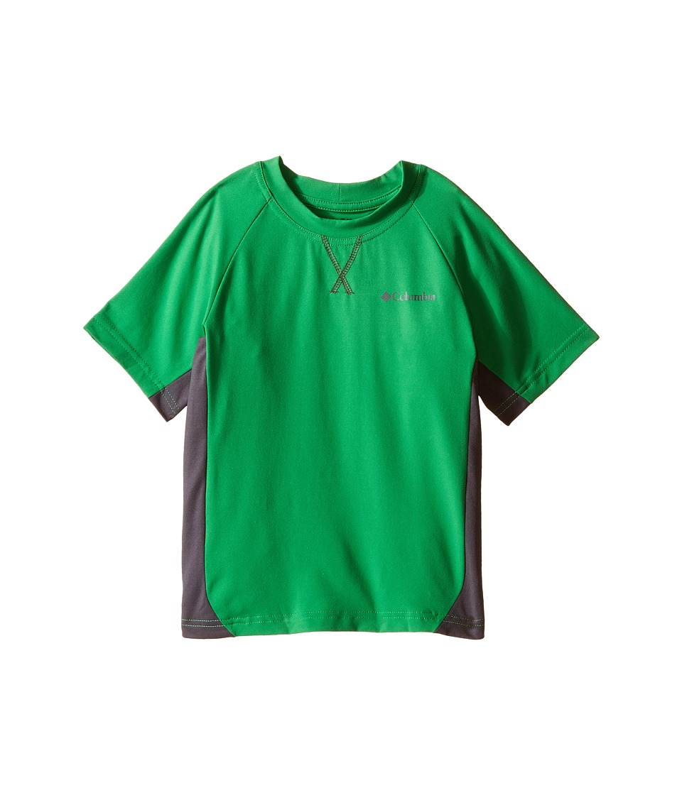 Columbia Kids - Silver Ridge Short Sleeve Tee (Little Kids/Big Kids) (Fuse Green/Grill) Boy's Short Sleeve Pullover