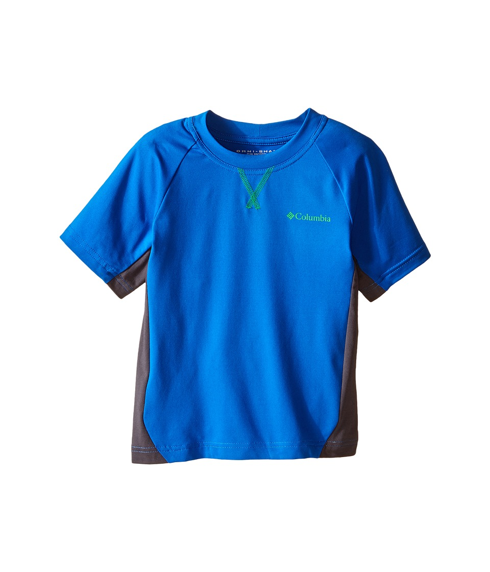 Columbia Kids - Silver Ridge Short Sleeve Tee (Little Kids/Big Kids) (Super Blue/Grill) Boy's Short Sleeve Pullover
