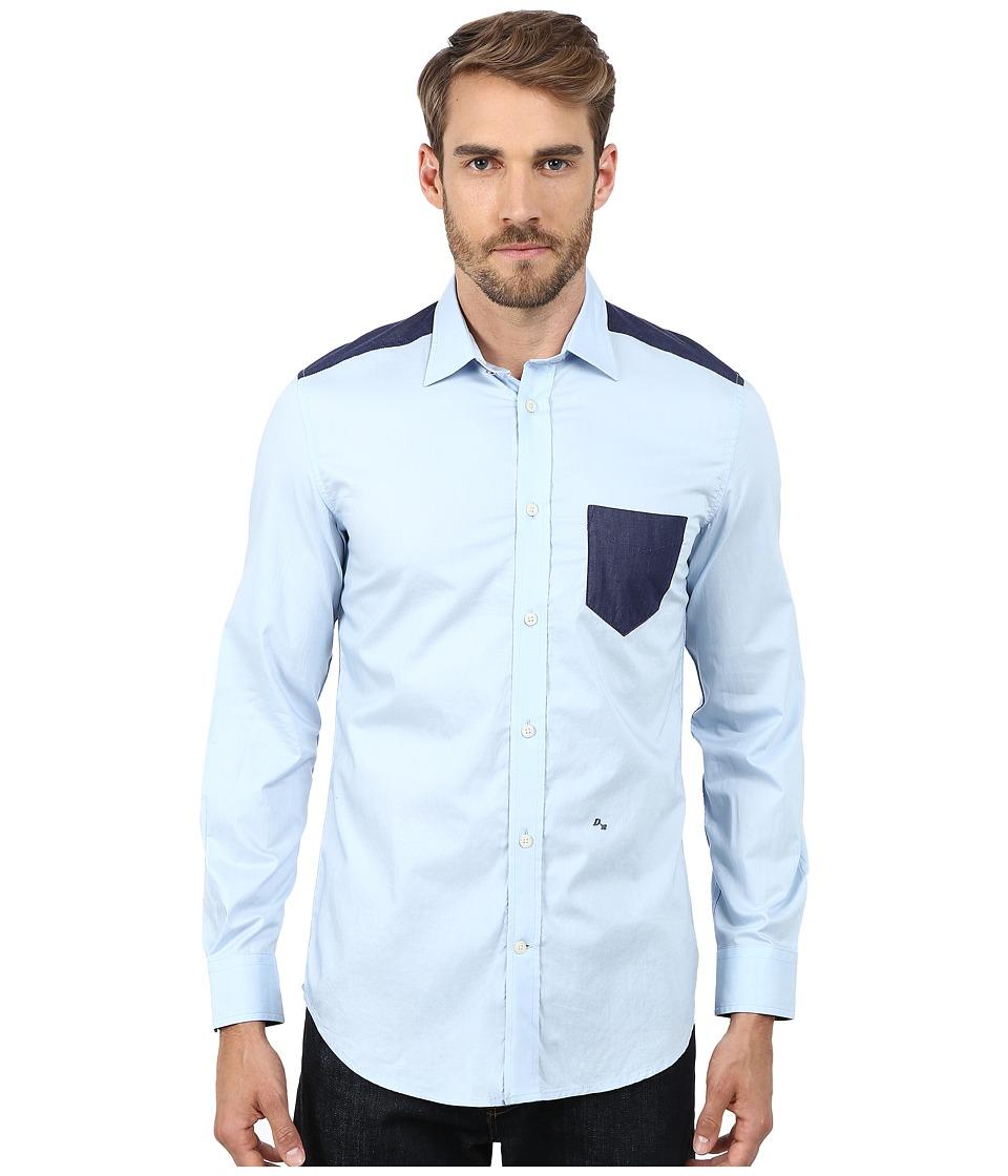Diesel - S-Carry Shirt (Blue) Men's Clothing