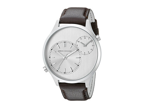 AX Armani Exchange - Hampton - AX2175 (Dark Brown/Taupe) Analog Watches