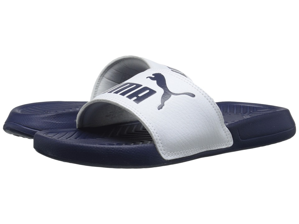 PUMA - Popcat (Peacoat/White) Men's Sandals