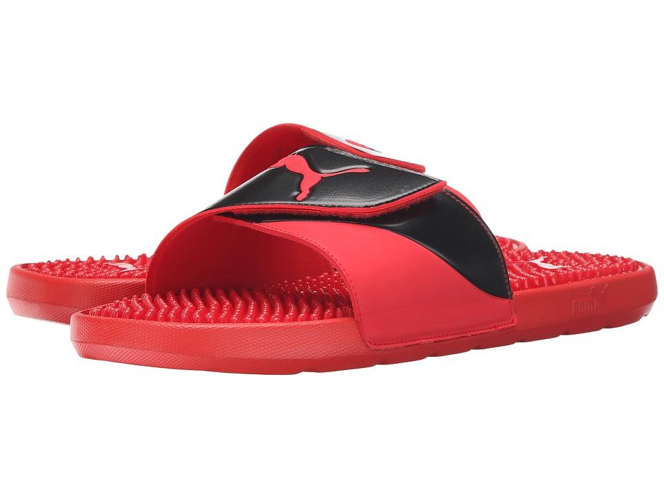 PUMA - Starcat TPR (High Risk Red/Black) Men's Sandals
