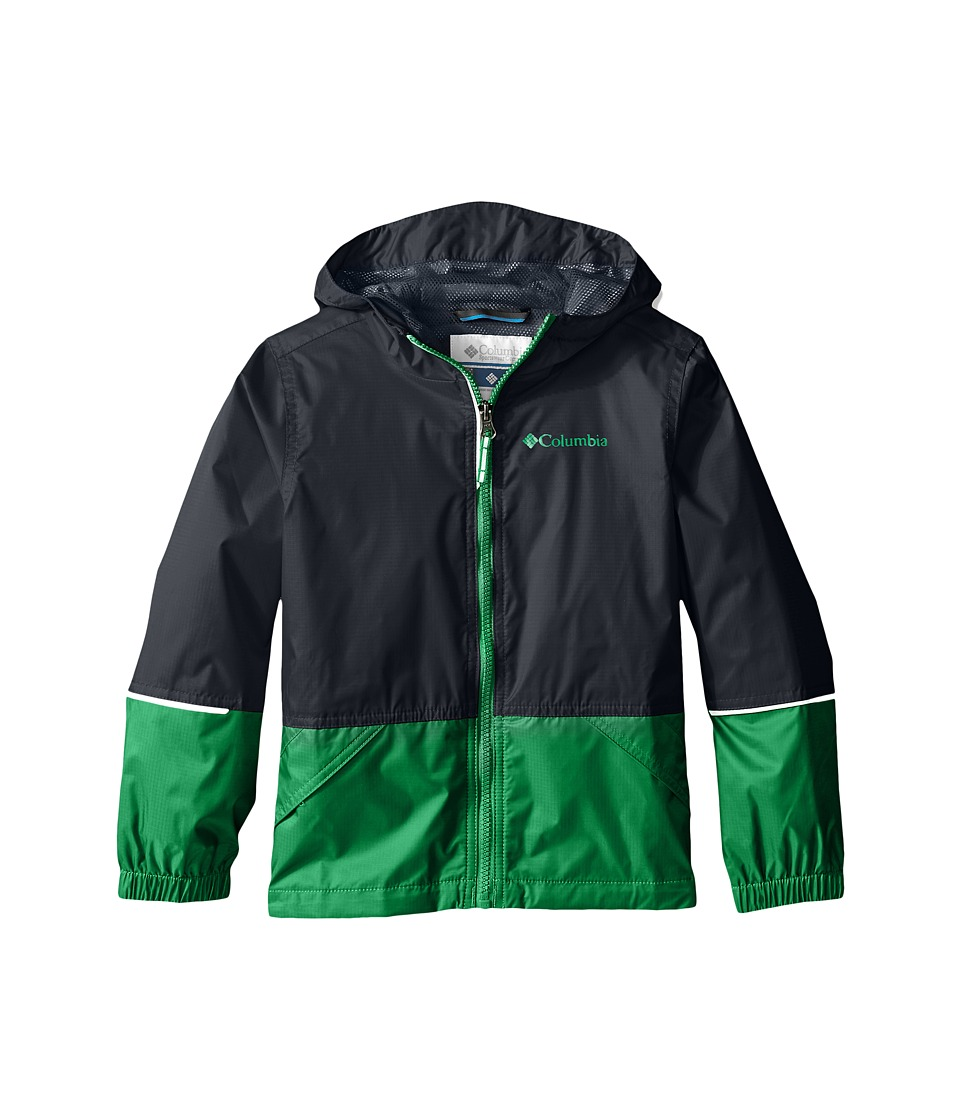 Columbia Kids - Hot on the Trail Rain Jacket (Little Kids/Big Kids) (Fuse Green/Graphite) Boy's Coat