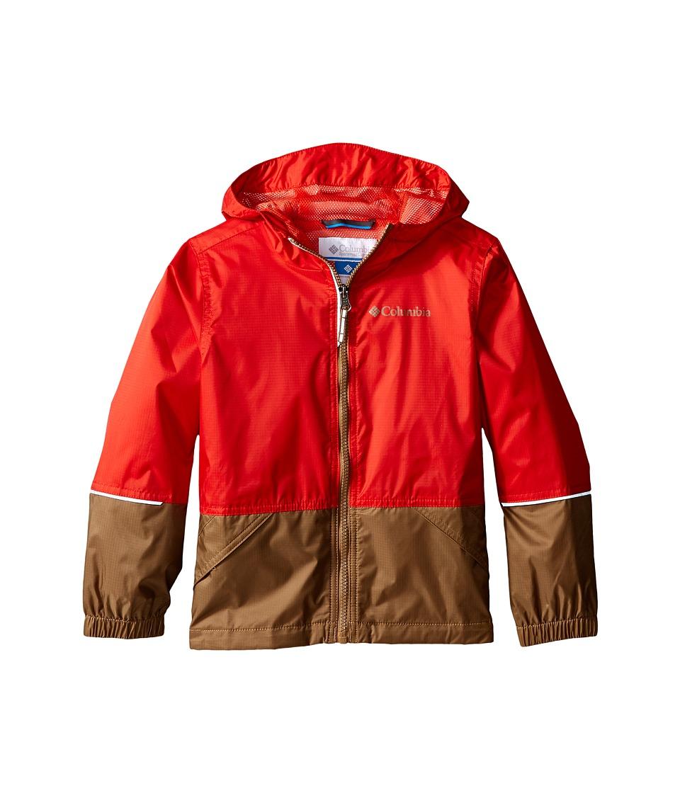 Columbia Kids - Hot on the Trail Rain Jacket (Little Kids/Big Kids) (Super Sonic/Delta) Boy's Coat