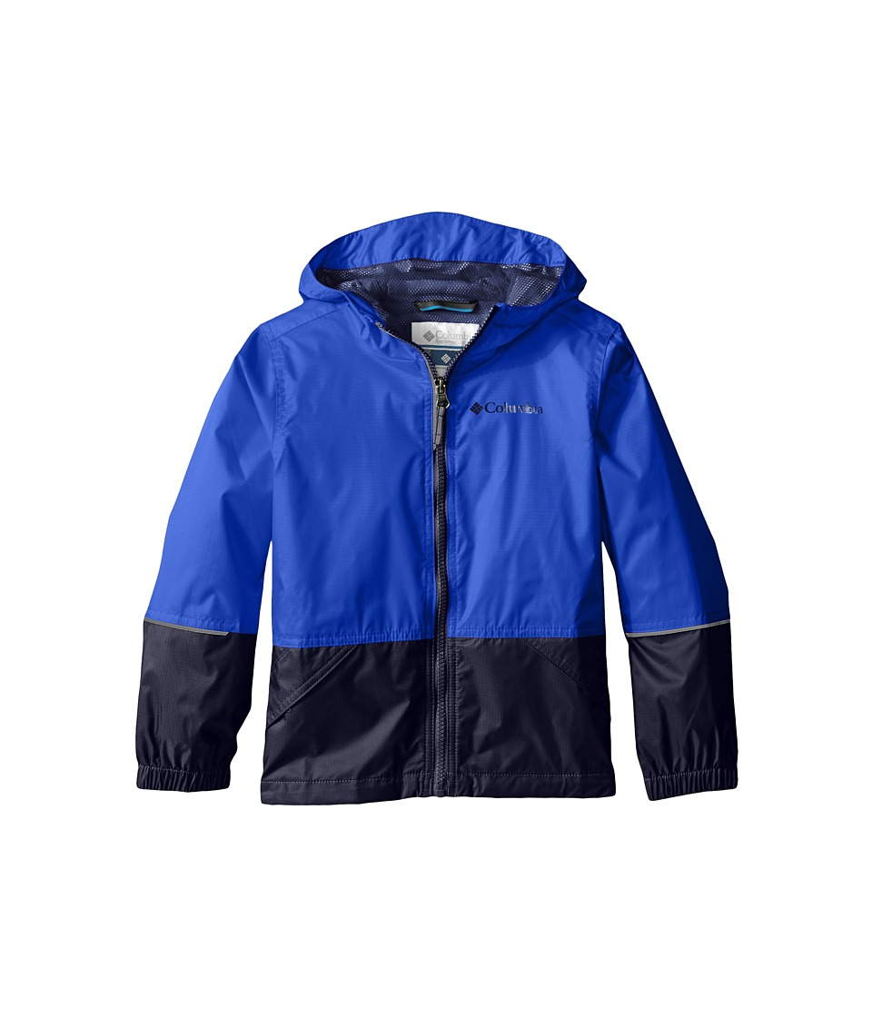 Columbia Kids - Hot on the Trail Rain Jacket (Little Kids/Big Kids) (Hyper Blue/Collegiate Navy) Boy's Coat