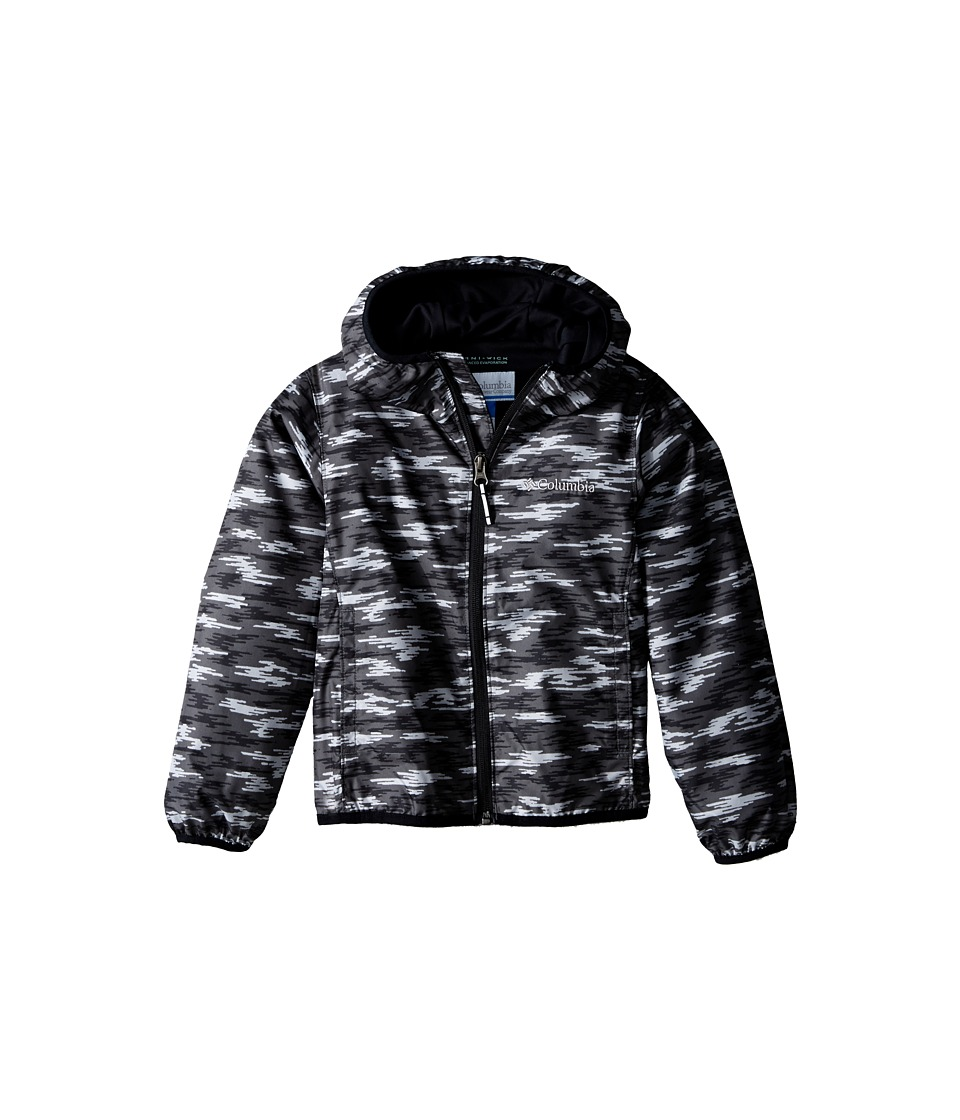 Columbia Kids - Pixel Grabber II Wind Jacket (Little Kids/Big Kids) (Black Camo) Boy's Coat