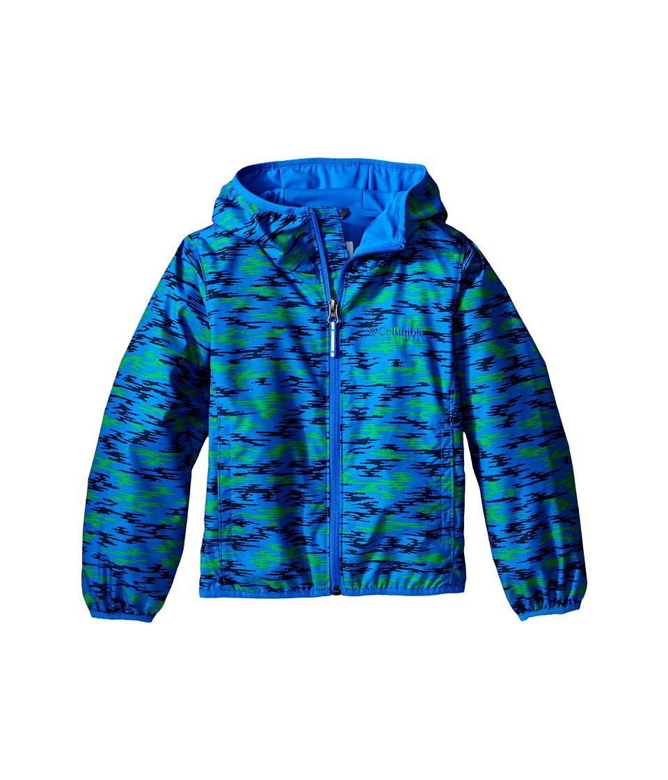 Columbia Kids - Pixel Grabber II Wind Jacket (Little Kids/Big Kids) (Hyper Blue Camo) Boy's Coat