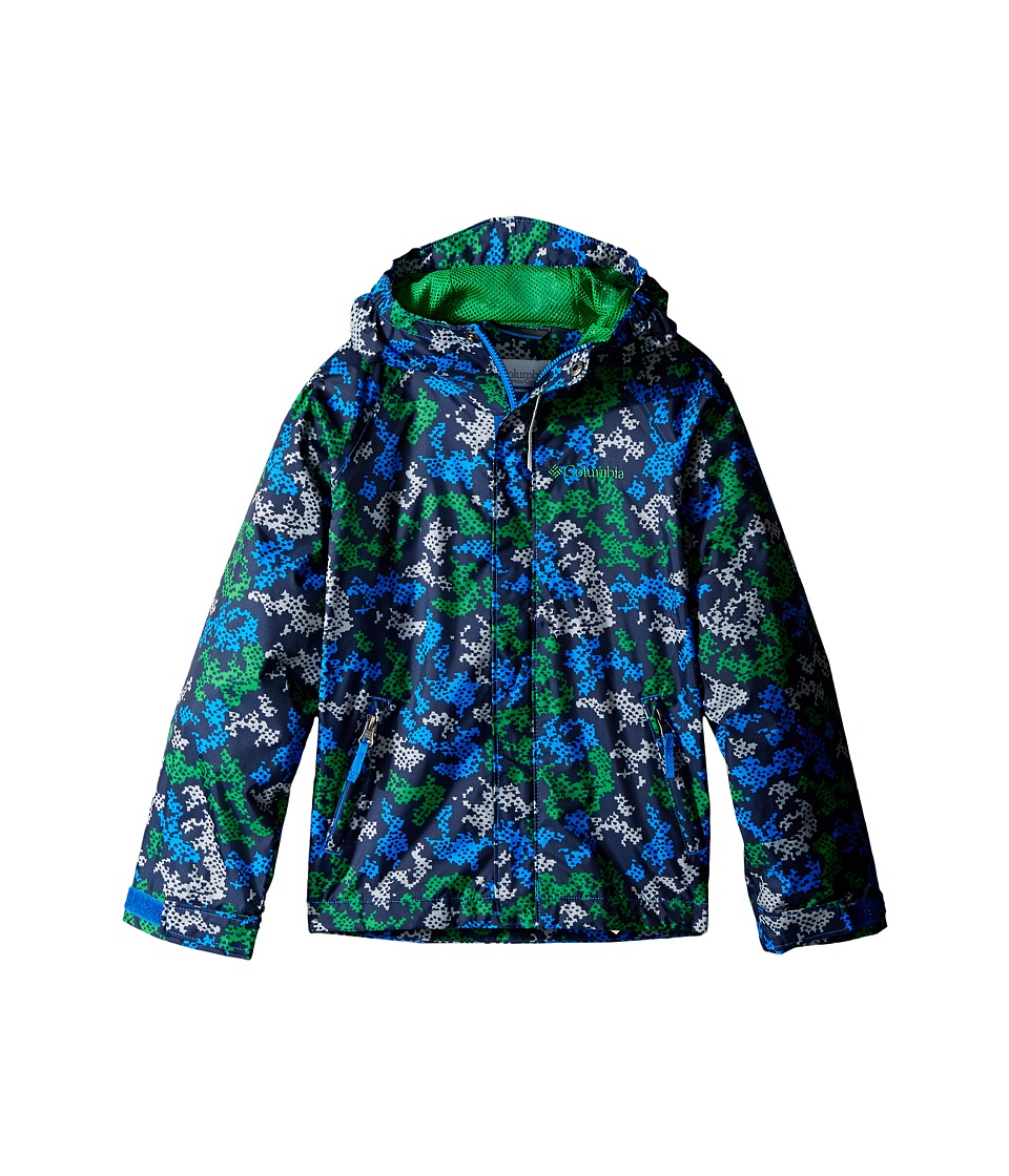 Columbia Kids - Fast Curious Rain Jacket (Little Kids/Big Kids) (Fuse Green Camo) Boy's Coat