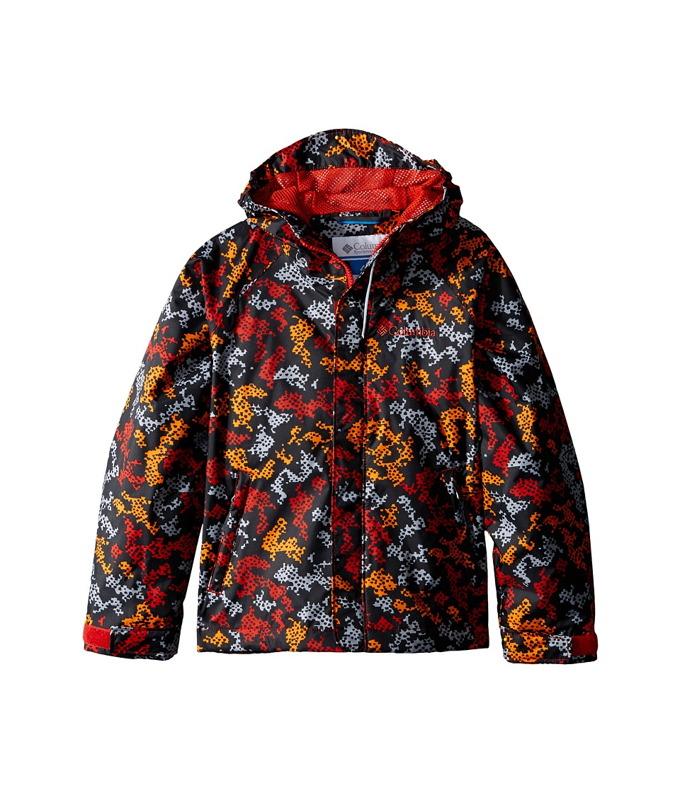 Columbia Kids - Fast Curious Rain Jacket (Little Kids/Big Kids) (Super Sonic Camo) Boy's Coat