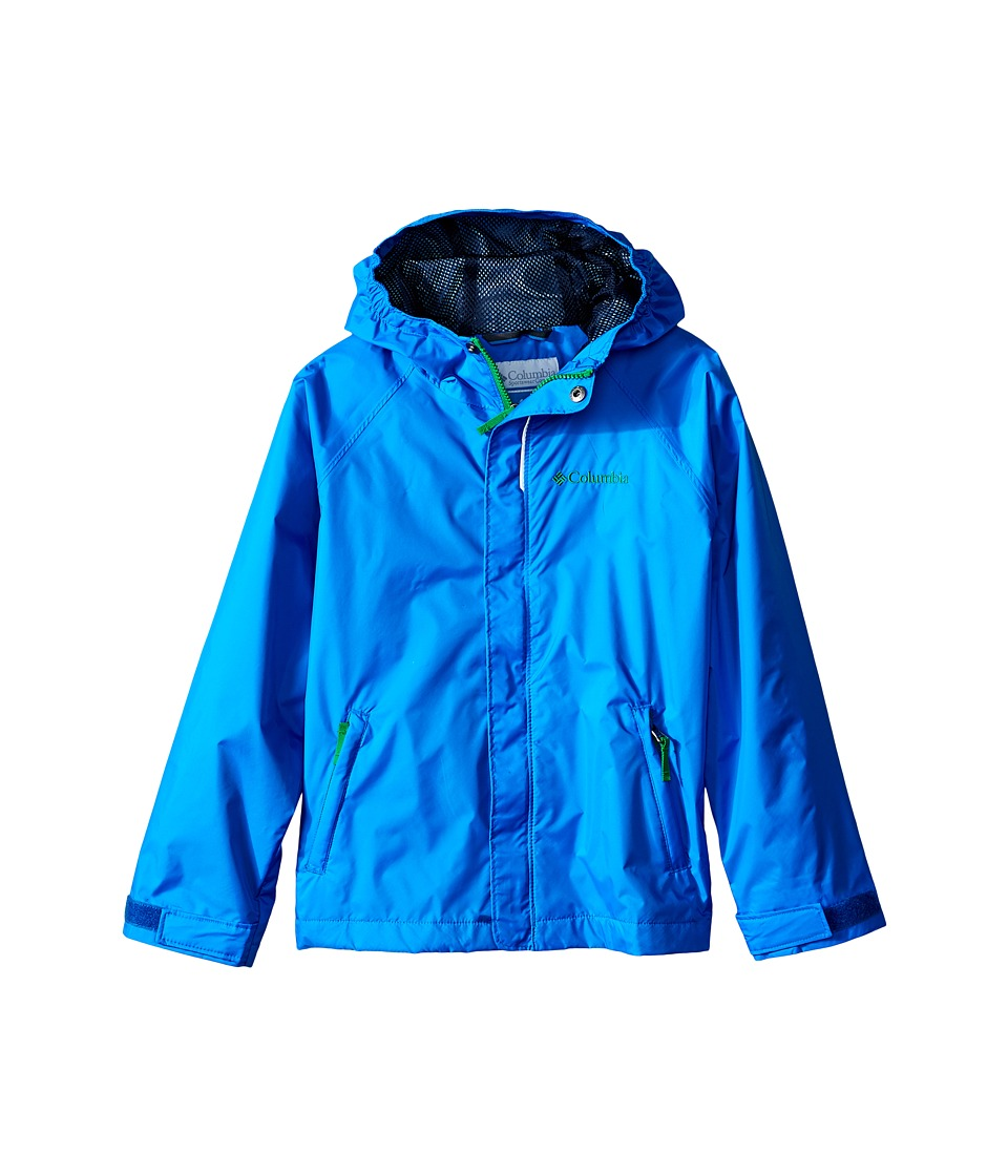 Columbia Kids - Fast Curious Rain Jacket (Little Kids/Big Kids) (Hyper Blue Invizzaprint) Boy's Coat