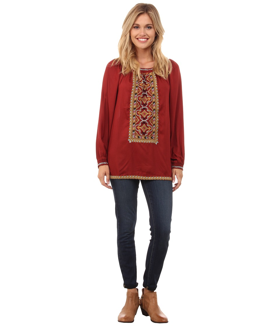 Double D Ranchwear - Naskapi Top (Cinnabar) Women's Clothing
