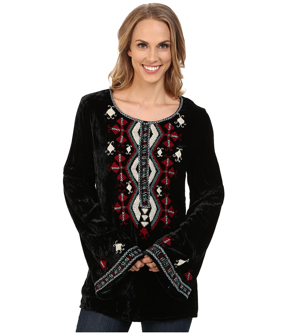 Double D Ranchwear - Gran Quivera Top (Black) Women's Clothing