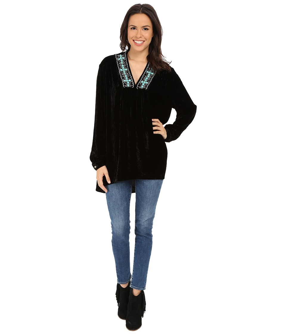 Double D Ranchwear - Silver Ketoh Top (Black) Women's Clothing