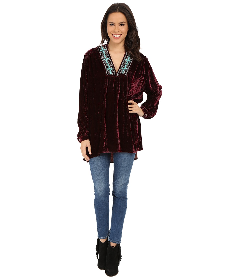 Double D Ranchwear - Silver Ketoh Top (Raisin) Women's Clothing