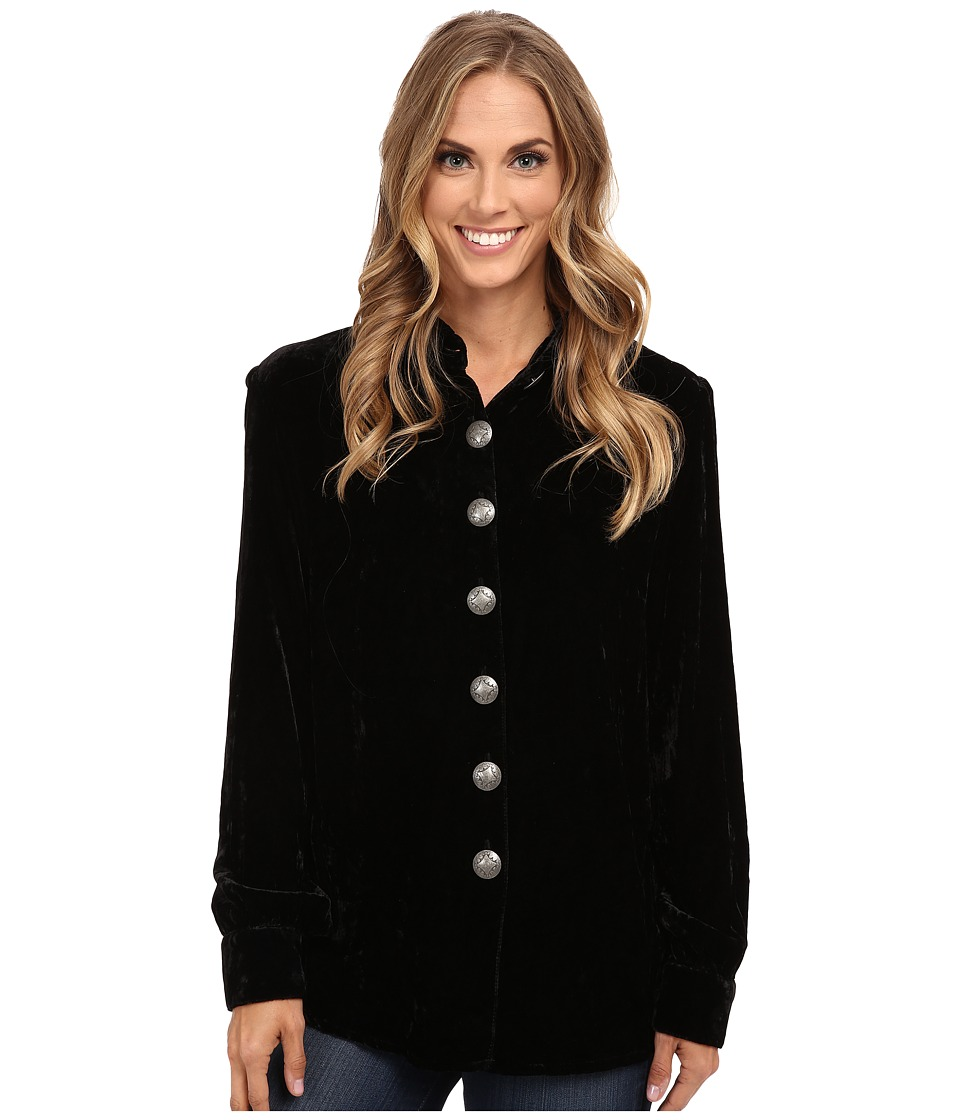 Double D Ranchwear - Concho Shirt (Black) Women's Clothing