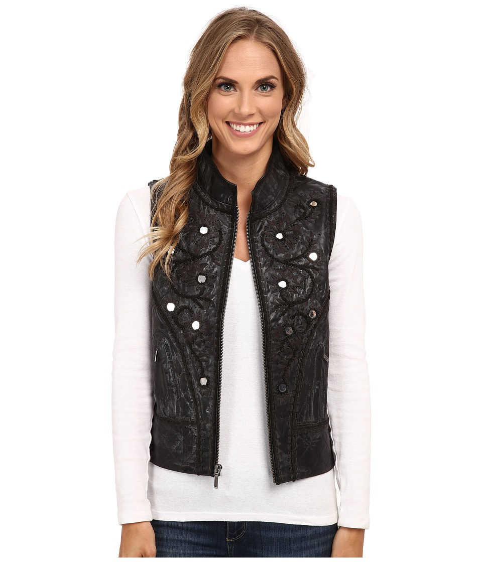 Double D Ranchwear - Highwayman Biker Vest (Black) Women's Vest