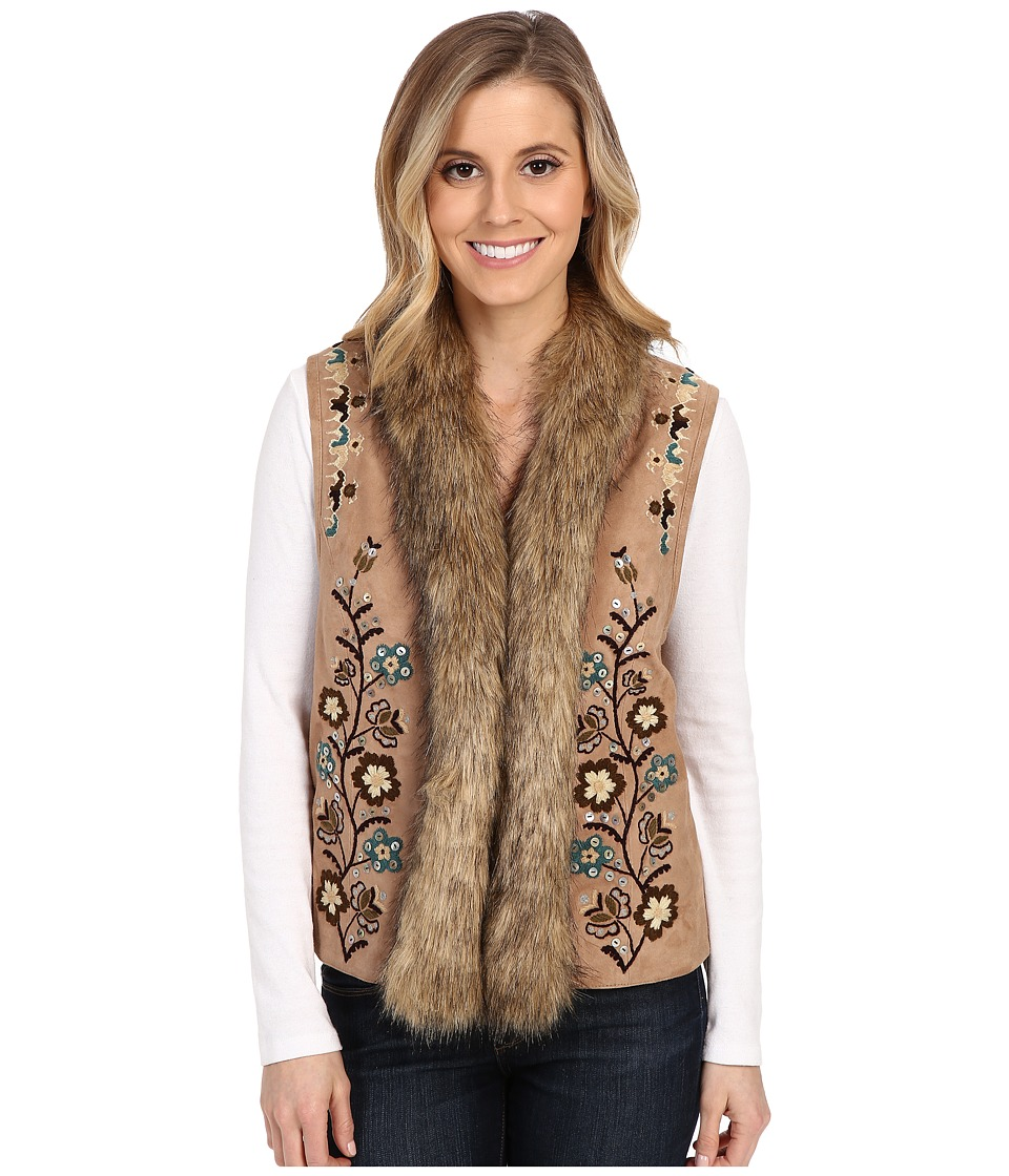 Double D Ranchwear - Mansi Blossom Vest (Doeskin) Women's Vest