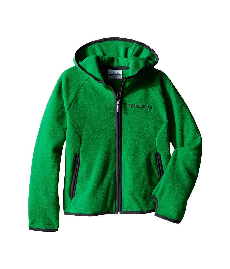 Columbia Kids - Fast Trek Hoodie (Little Kids/Big Kids) (Fuse Green/Grill) Boy's Sweatshirt