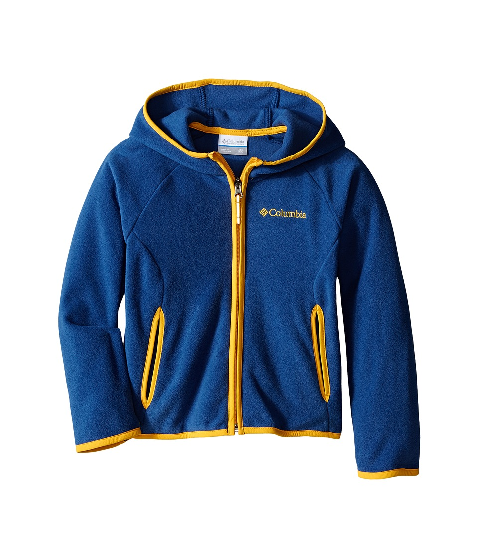 Columbia Kids - Fast Trek Hoodie (Little Kids/Big Kids) (Night Tide/Stinger) Boy's Sweatshirt