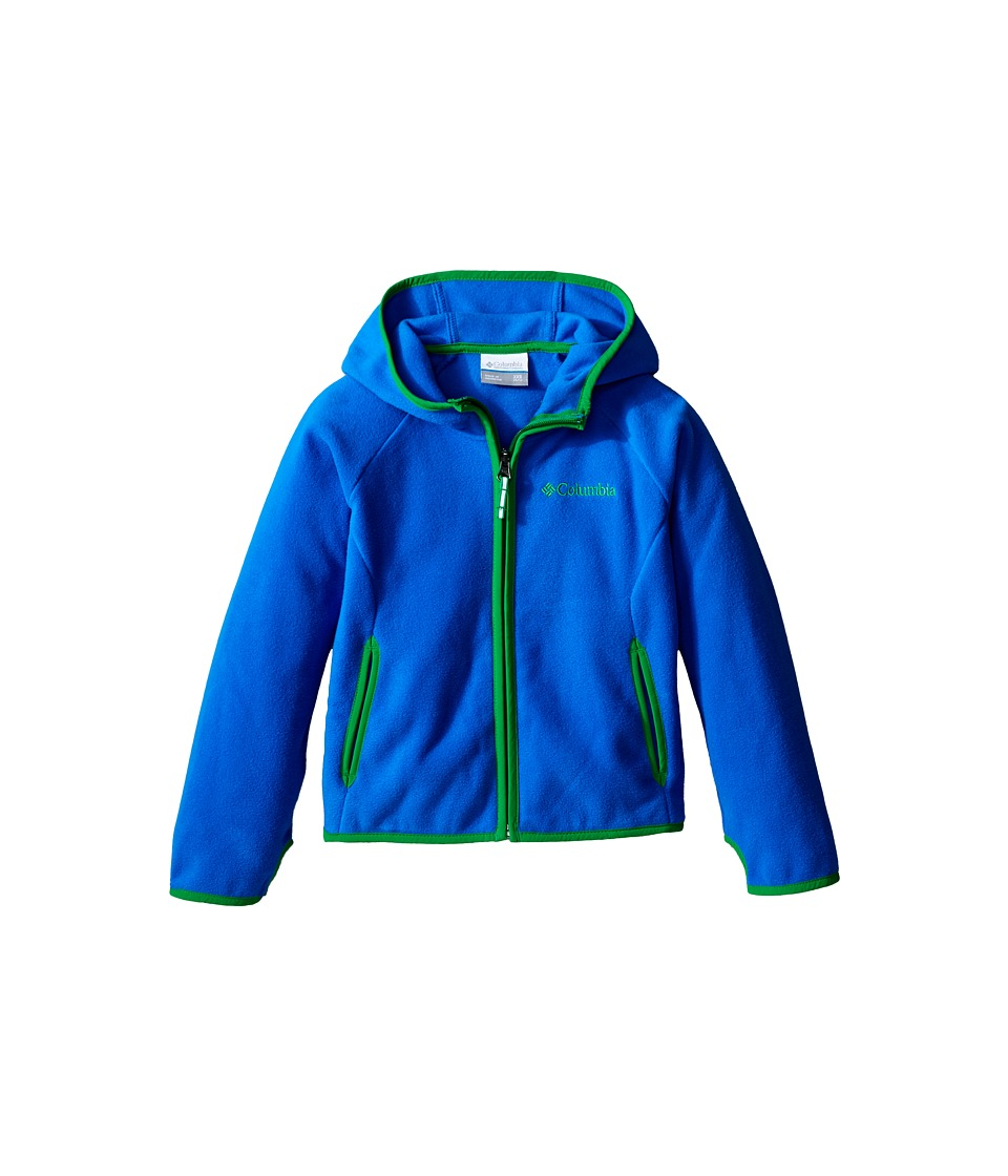 Columbia Kids - Fast Trek Hoodie (Little Kids/Big Kids) (Super Blue/Fuse Green) Boy's Sweatshirt