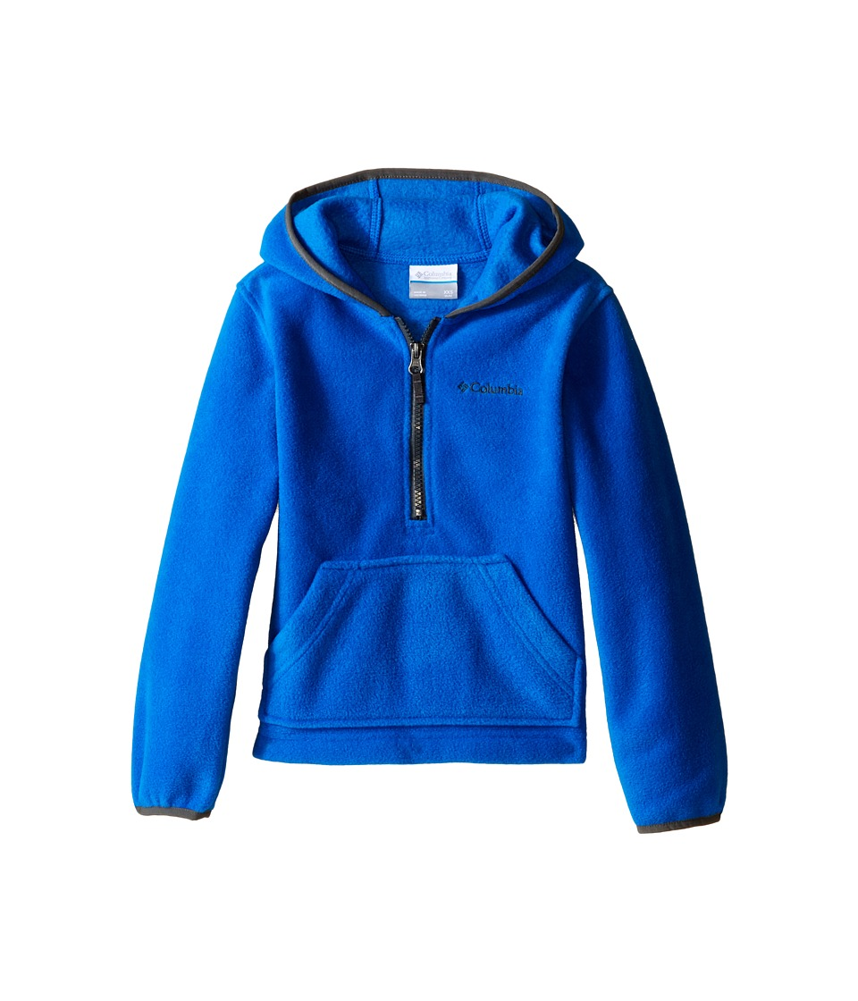 Columbia Kids - Elm Lake Fleece Hoodie (Little Kids/Big Kids) (Super Blue/Grill) Boy's Sweatshirt