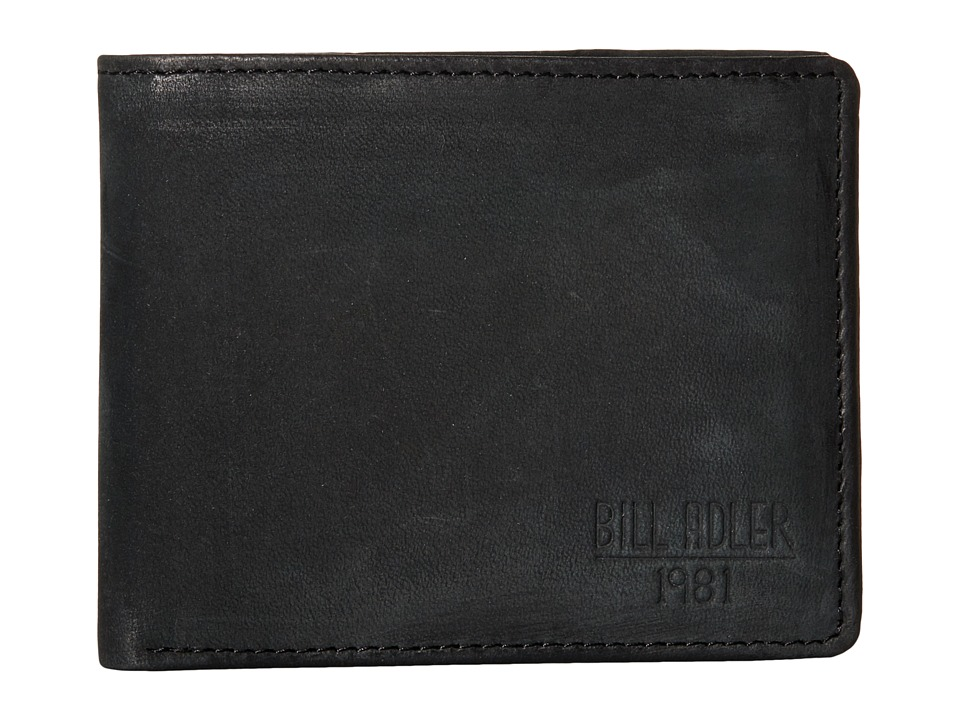 Bill Adler 1981 - Nubuck Bill fold (Black) Bill-fold Wallet