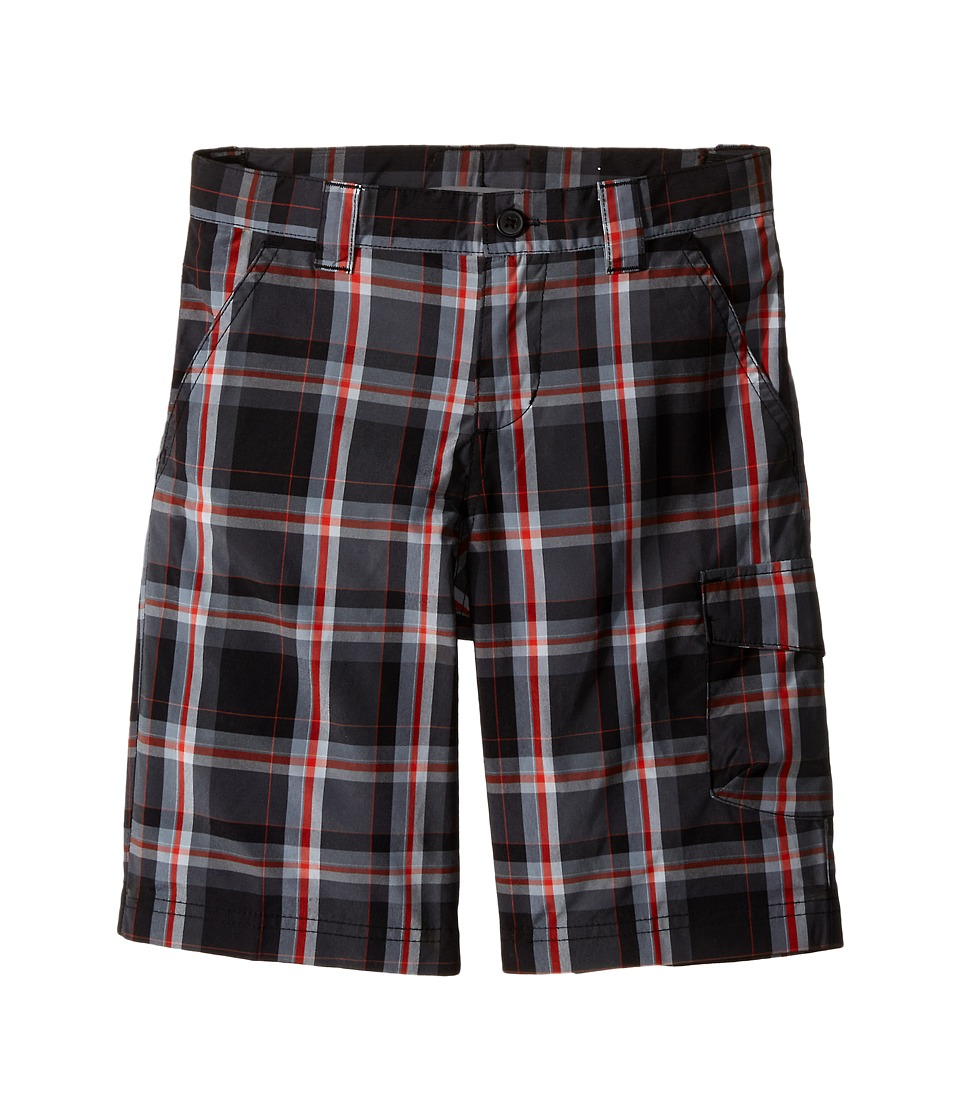 Columbia Kids - Silver Ridge III Plaid Shorts (Little Kids/Big Kids) (Black Plaid) Boy's Shorts