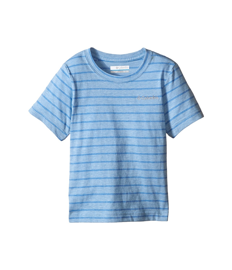 Columbia Kids - Out and About Stripe Crew (Little Kids/Big Kids) (Blue Sky) Boy's Short Sleeve Pullover
