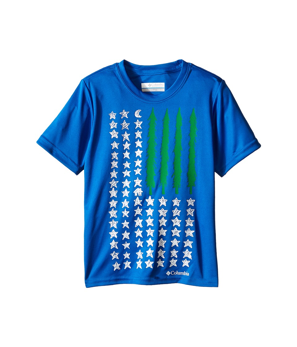 Columbia Kids - Camp Americana Graphic Tee (Little Kids/Big Kids) (Super Blue) Boy's Short Sleeve Pullover
