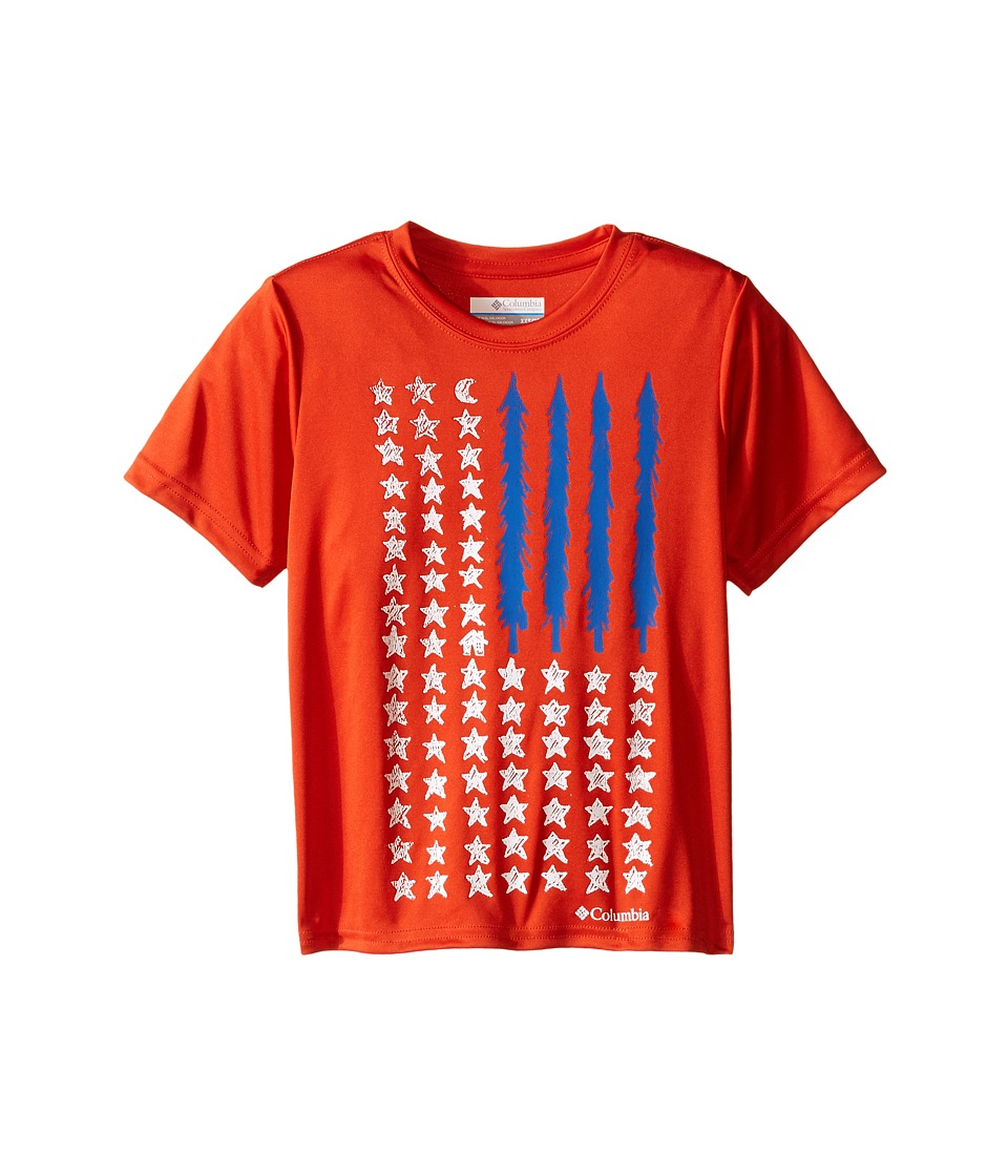 Columbia Kids - Camp Americana Graphic Tee (Little Kids/Big Kids) (Super Sonic) Boy's Short Sleeve Pullover