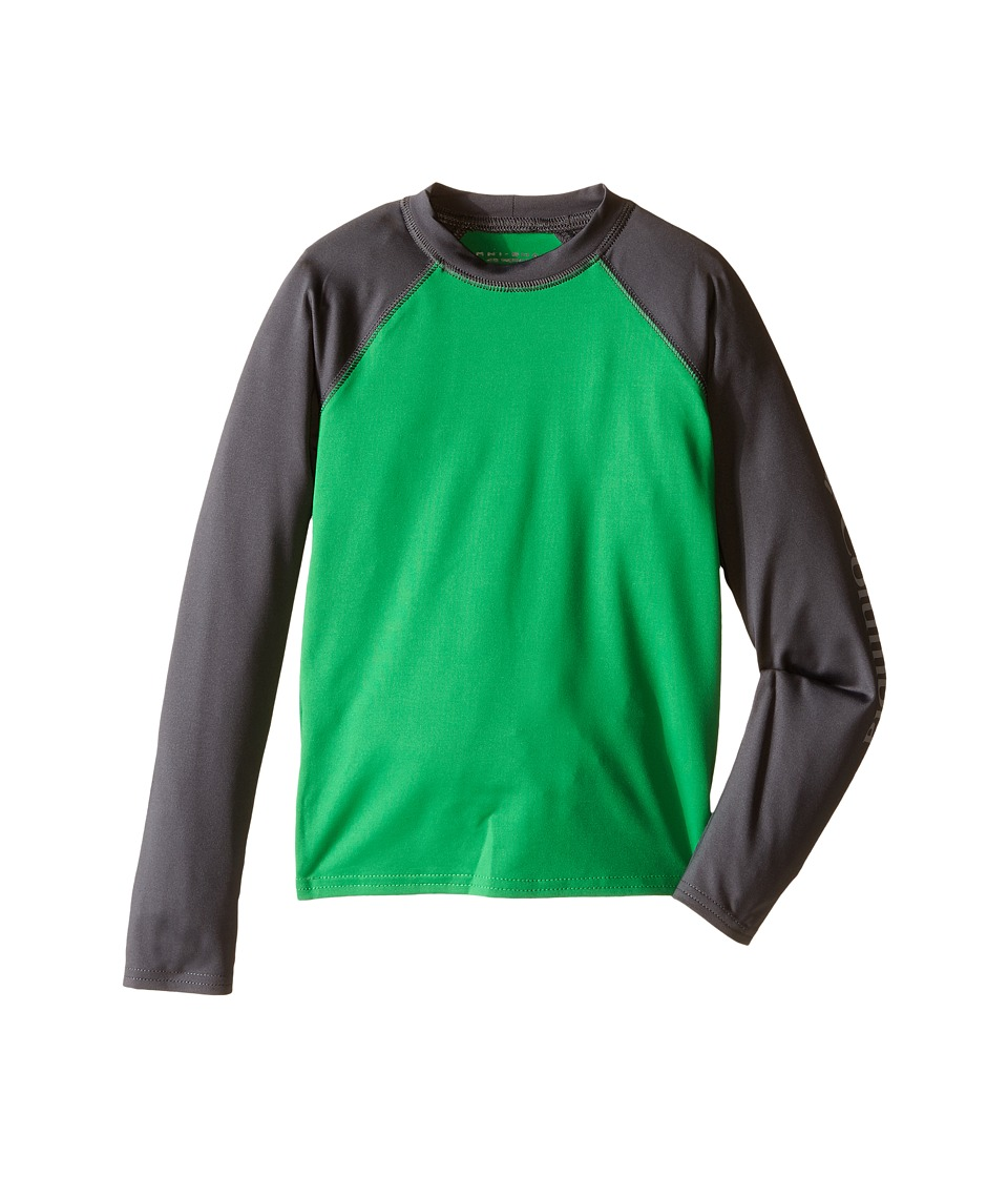 Columbia Kids - Mini Breaker Long Sleeve Rashguard (Little Kids/Big Kids) (Fuse Green/Grill) Boy's Swimwear