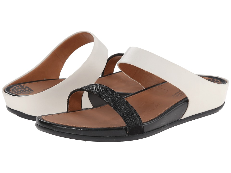 FitFlop - Banda Micro-Crystal Slide (Black/White) Women's Shoes