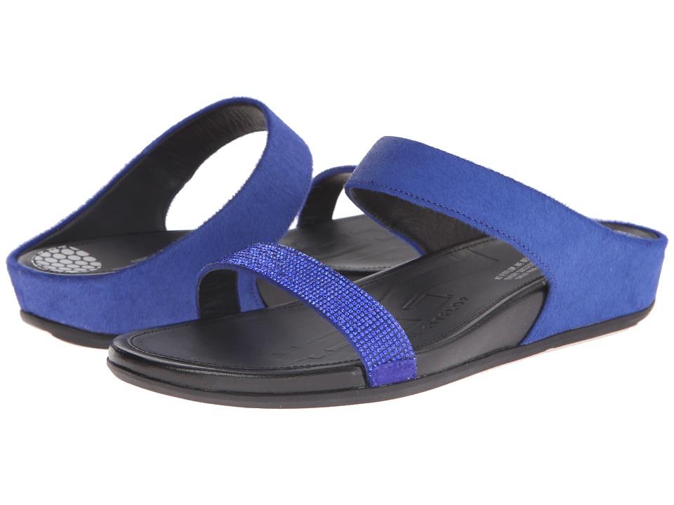 FitFlop Banda Micro-Crystal Slidetm Mazarine Blue Slide Shoes
