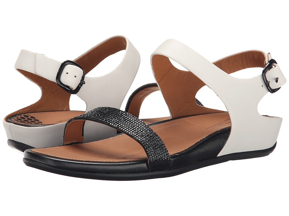 FitFlop - Banda Micro-Crystal Sandal (Black/White) Women