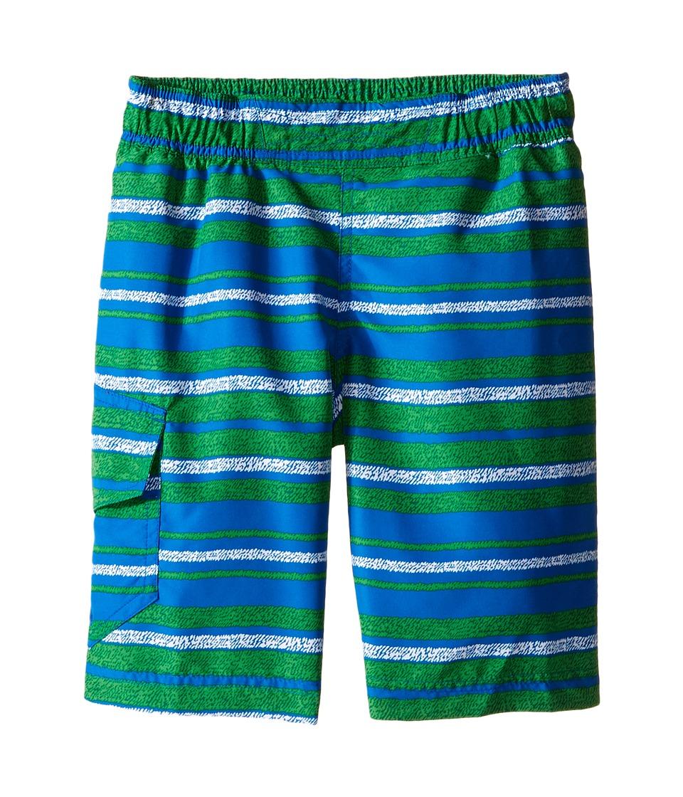 Columbia Kids - Solar Stream II Boardshort (Little Kids/Big Kids) (Fuse Green Stripe) Boy's Swimwear