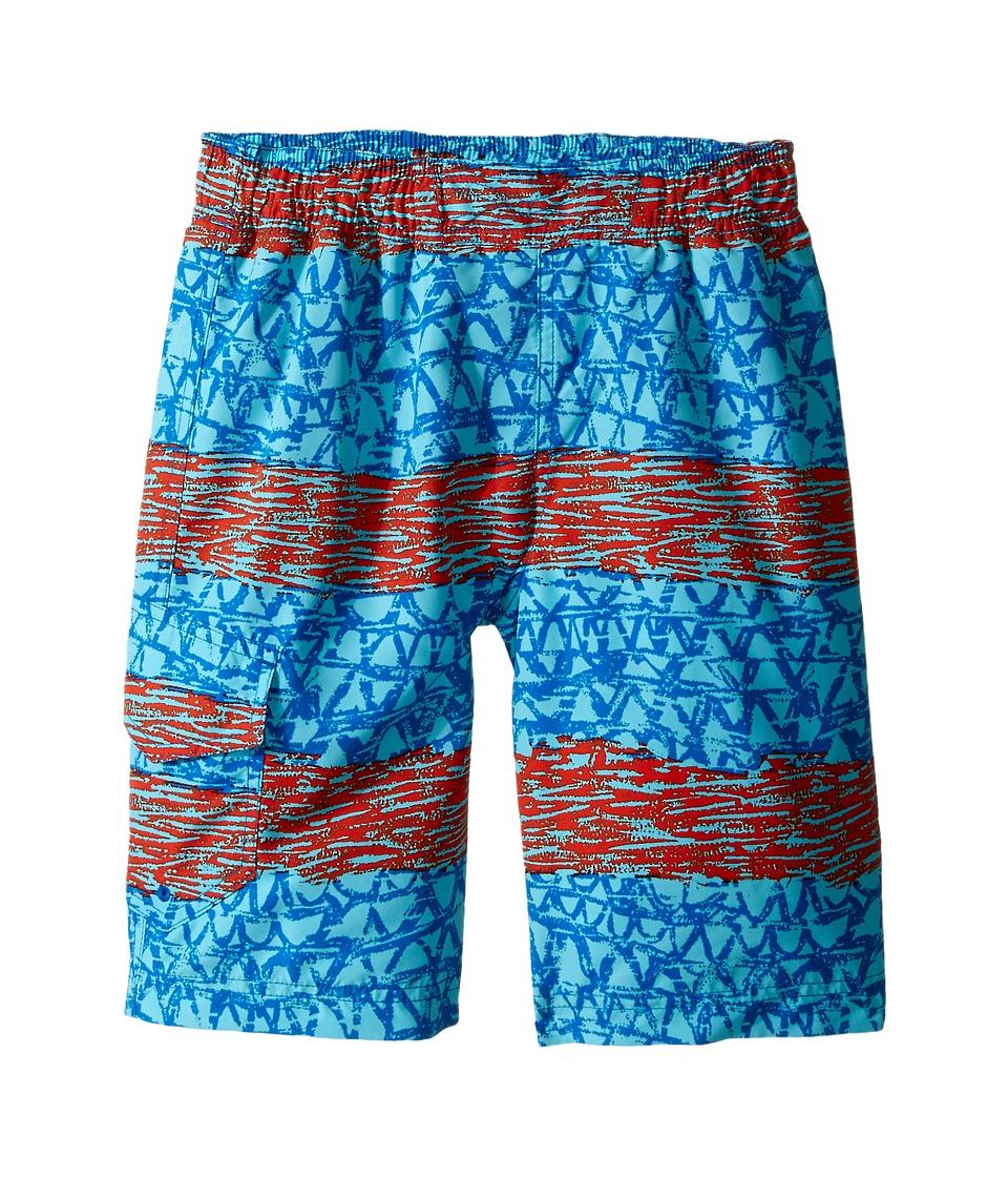 Columbia Kids - Solar Stream II Boardshort (Little Kids/Big Kids) (Super Blue Wavy) Boy's Swimwear
