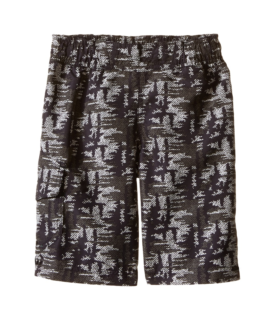 Columbia Kids - Solar Stream II Boardshort (Little Kids/Big Kids) (Black Tree Camo) Boy's Swimwear