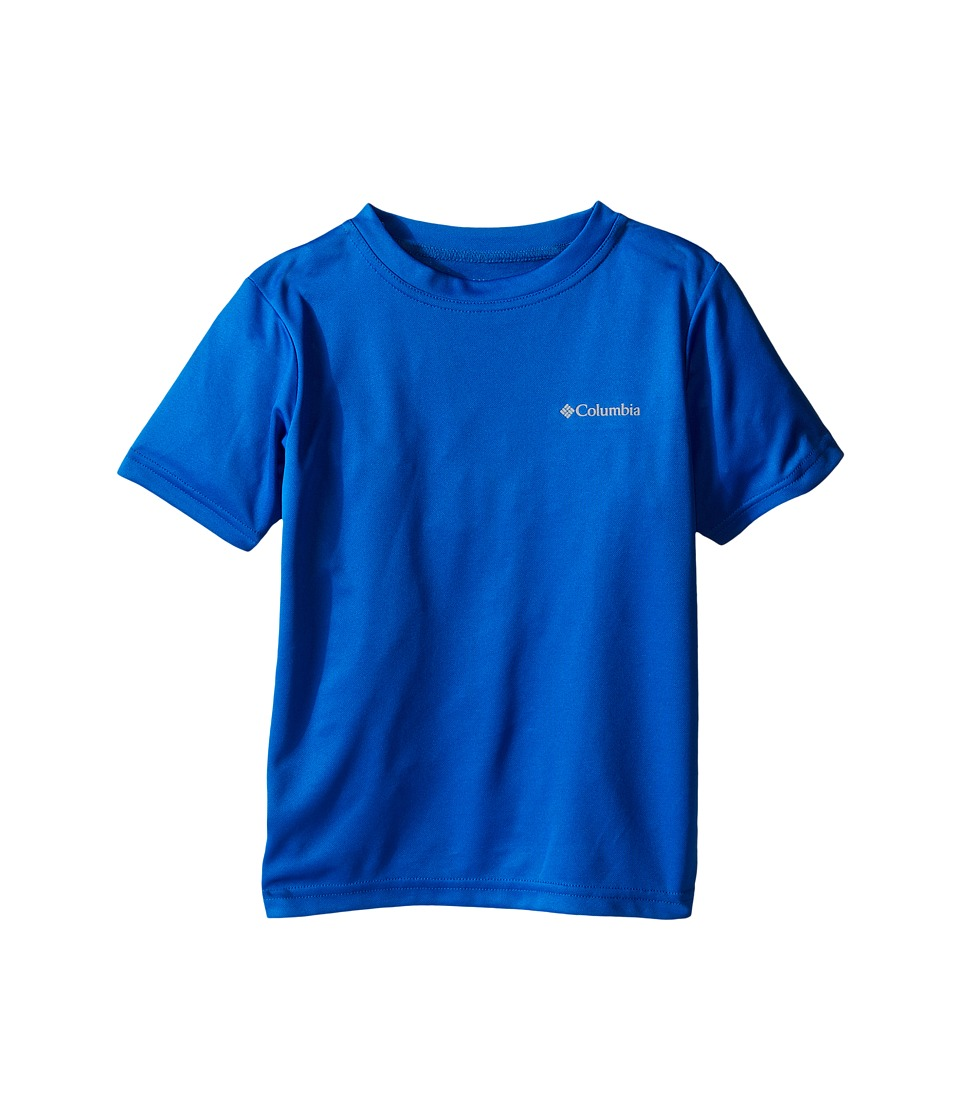 Columbia Kids - Meeker Peak II Short Sleeve Top (Little Kids/Big Kids) (Super Blue) Boy's Short Sleeve Pullover