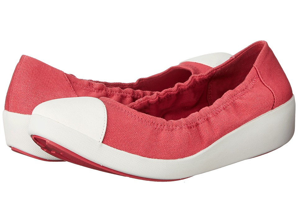 FitFlop - F-Pop Ballerina Canvas (Raspberry) Women's Shoes