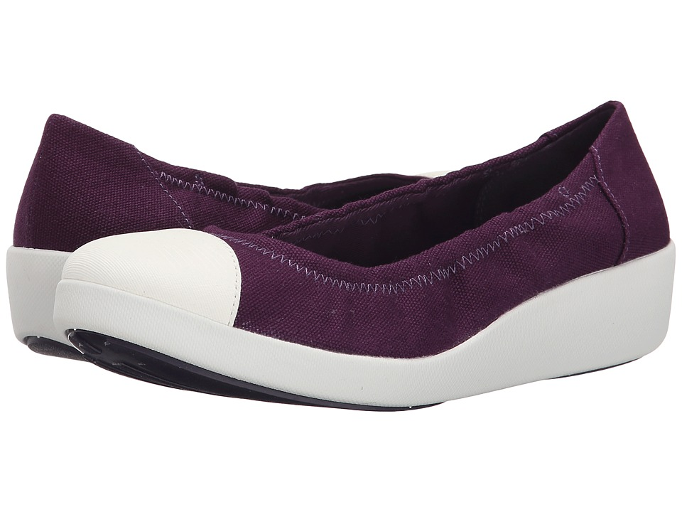 FitFlop - F-Pop Ballerina Canvas (Pomp Purple) Women's Shoes
