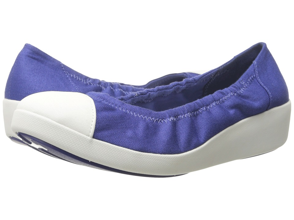 FitFlop - F-Pop Ballerina Canvas (Mazarine Blue) Women's Shoes