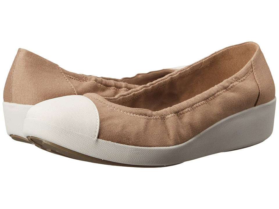 FitFlop F-Pop Ballerina Canvas (Timberwolf) Women
