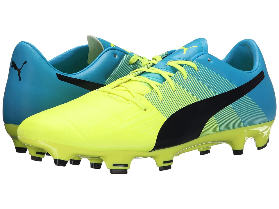 PUMA - evoPOWER 3.3 FG (Safety Yellow/Black/Atomic Blue) Men