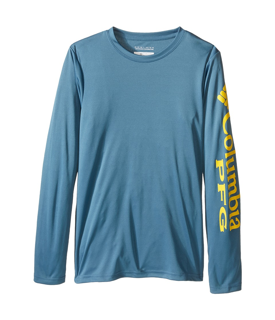 Columbia Kids - Terminal Tackle L/S Tee (Little Kids/Big Kids) (Steel) Boy's Long Sleeve Pullover