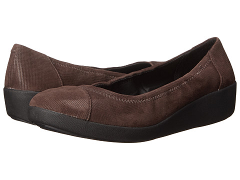 FitFlop - F-Pop Ballerina Opul (Chocolate) Women's Shoes