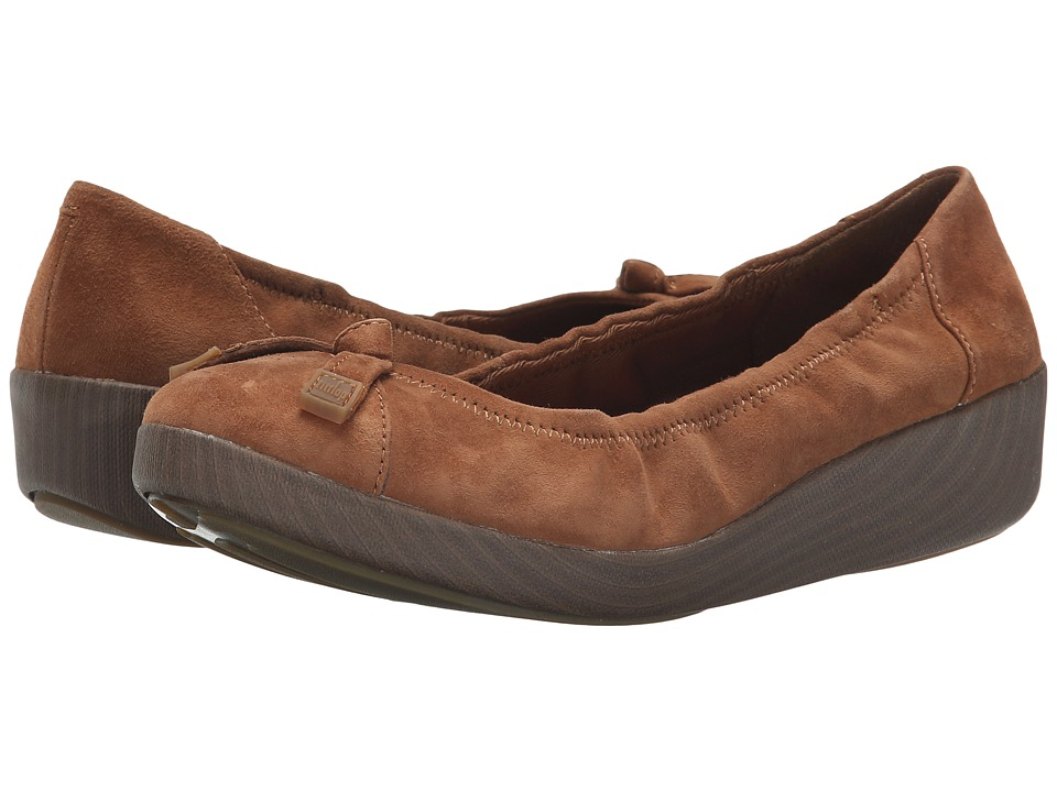 FitFlop - F-Pop Ballerina Suede (Tan) Women's Shoes