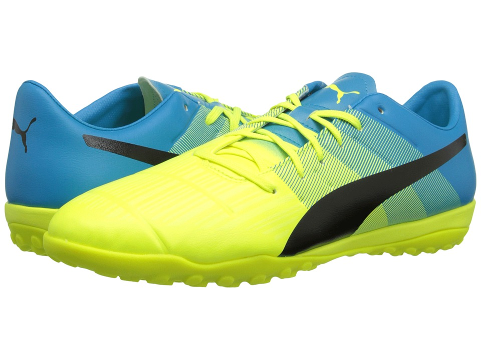 PUMA - evoPOWER 3.3 TT (Safety Yellow/Black/Atomic Blue) Men's Shoes