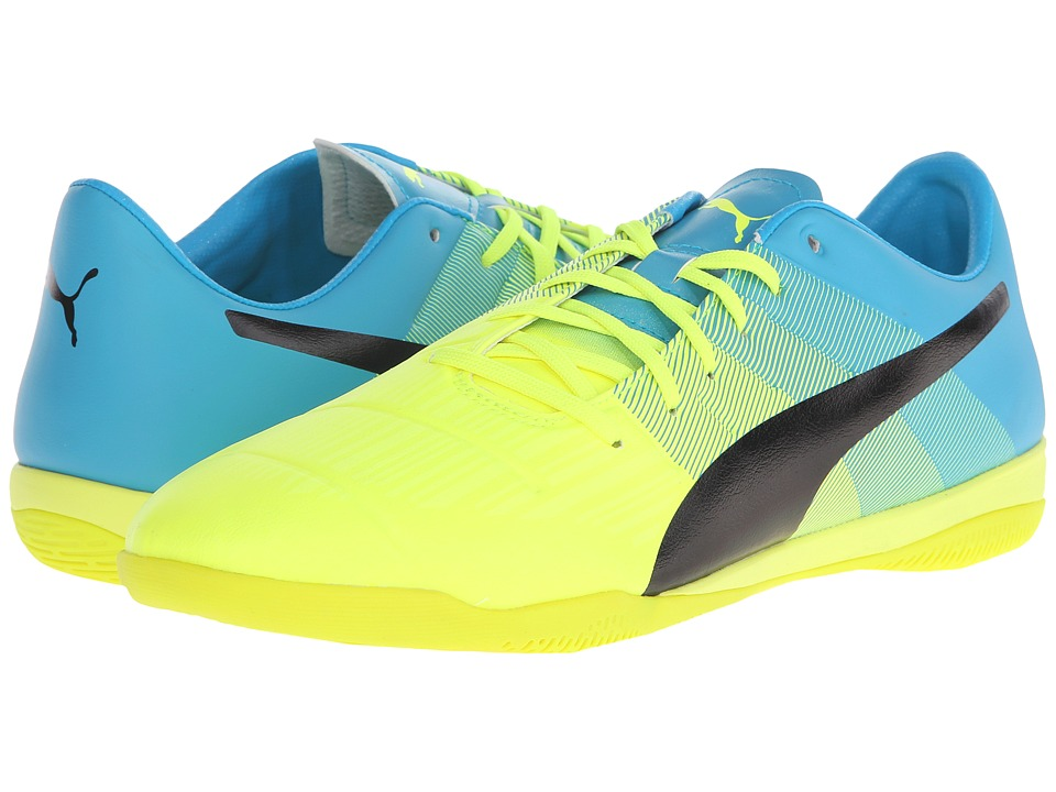 PUMA - evoPOWER 3.3 IT (Safety Yellow/Black/Atomic Blue) Men's Shoes