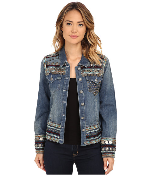 Double D Ranchwear - The Silver Mine Jacket (Metallic Denim) Women's Coat